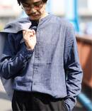 【COOLMAX / クールマックス】 BELGIAN リネンノーカラー シャツ