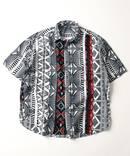 【AFRICAN BATIK】クレイジーワイドシルエット ショートスリーブシャツ