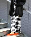 J-チェックジャガードスカート